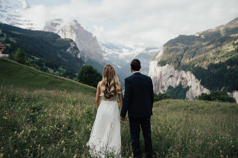 elopement at Lauterbrunnen valley
