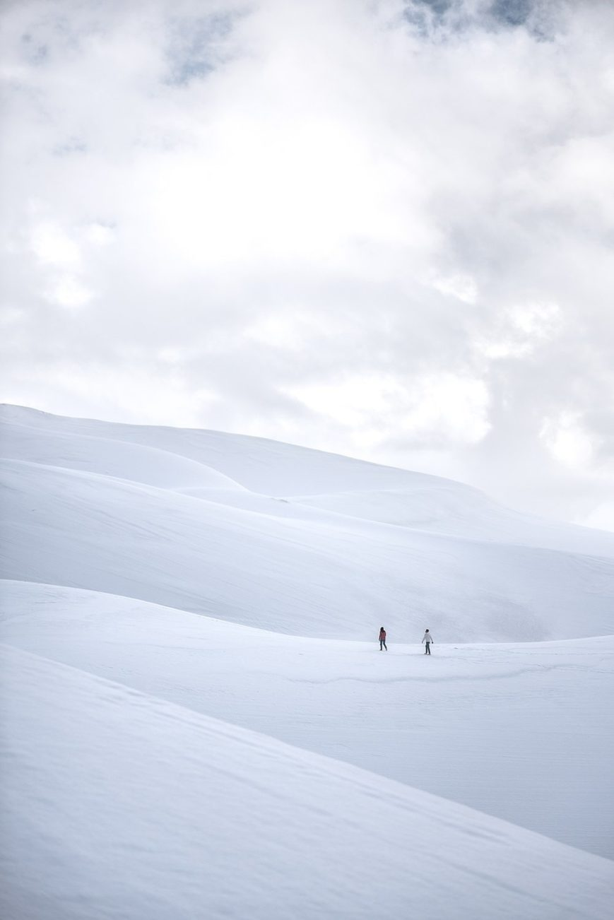snowy sand dunes engagement